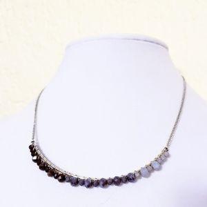 Ann Taylor Purple Ombre Bar Necklace